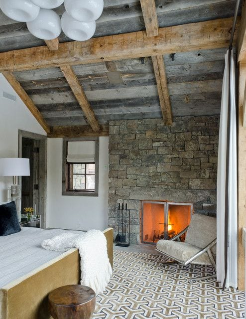 Rustic Bedroom Ideas With A Fireplace