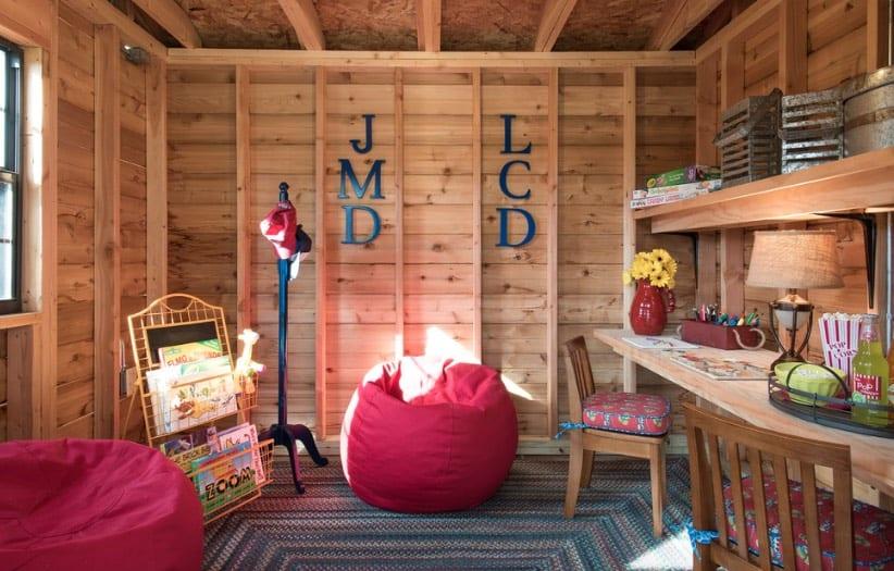 Rustic Modern Study Room for Kids