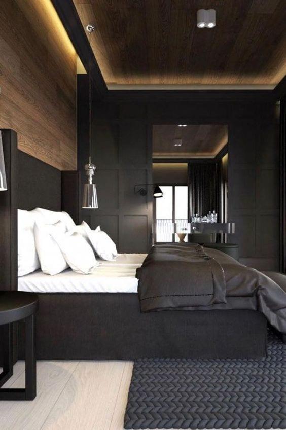 Rustic ceiling design for bedroom