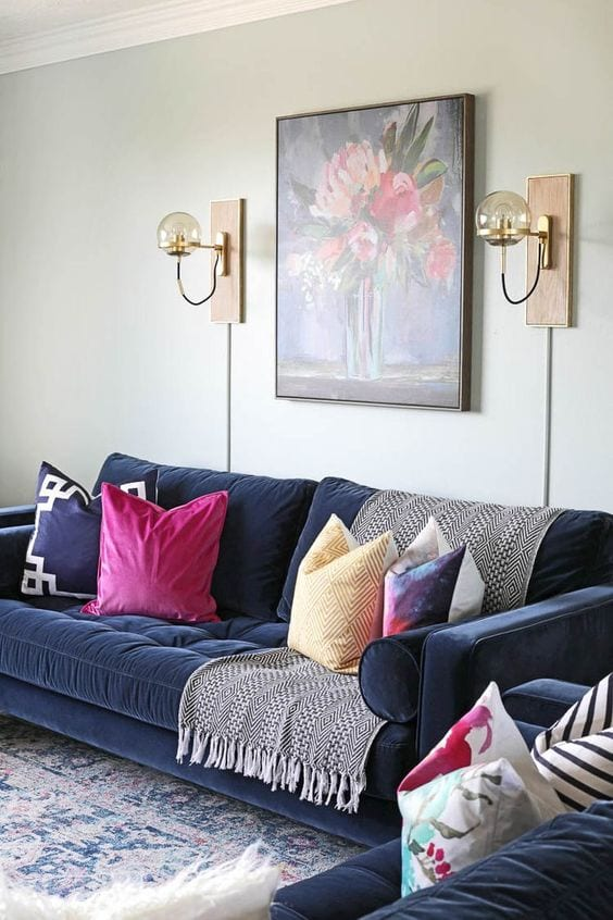 Velvet Living room sofa design