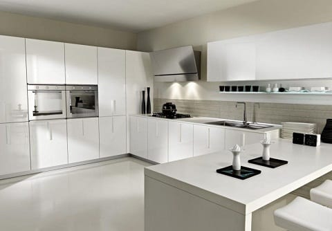 White Italian Kitchen platform design