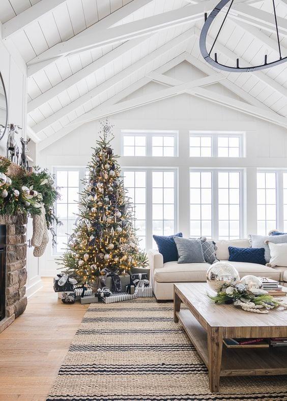 White T-Bar ceiling design for living room