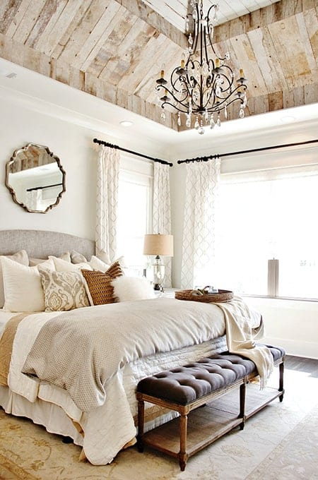 Wood Ceiling Rustic bedroom