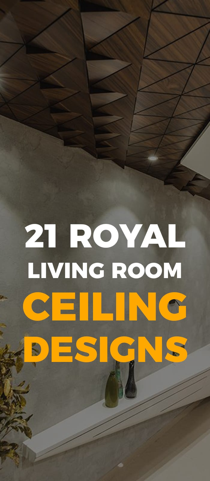 Wood ceiling design for living room in 2019.