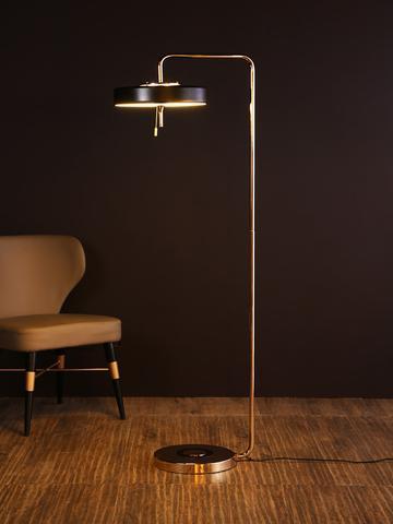 16. Revolve Black Gold Floor Lamp