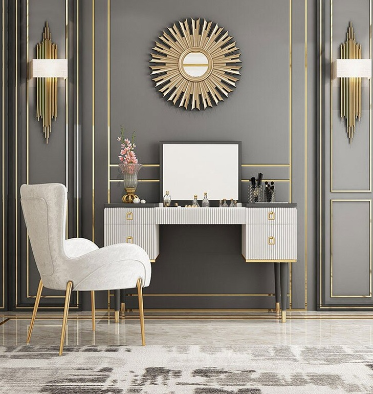 Dressing Table For Makeup With Modern Table and Chair