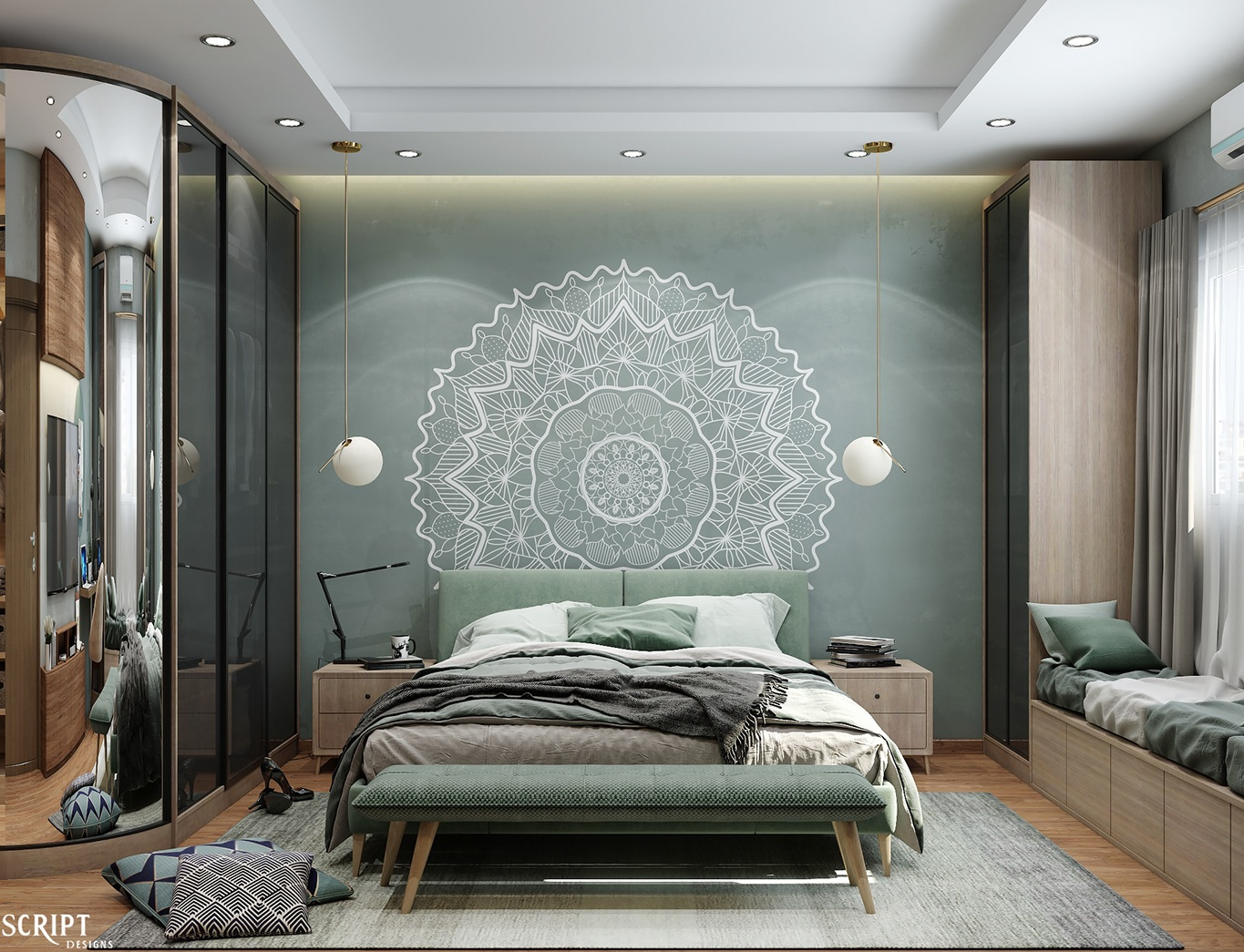 Aesthetically pleasing master bedroom idea for your home