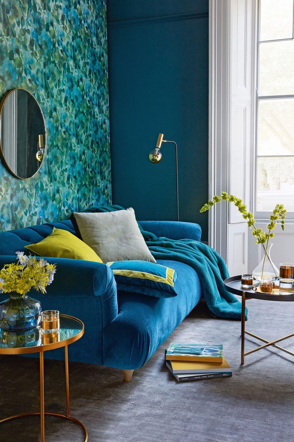 Blue Sofa Living Room Decor Ideas