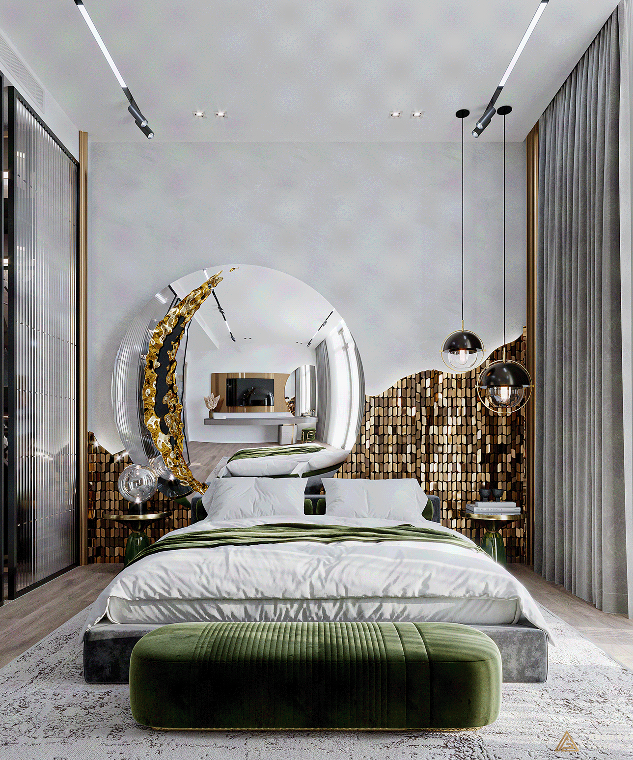 Gold and Glitter Moon Decor Ideas for a Stylish Bedroom