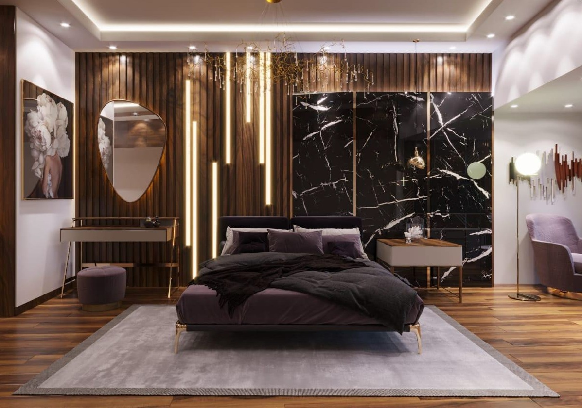 Luxurious Master Bedroom With Contemporary Interior Design