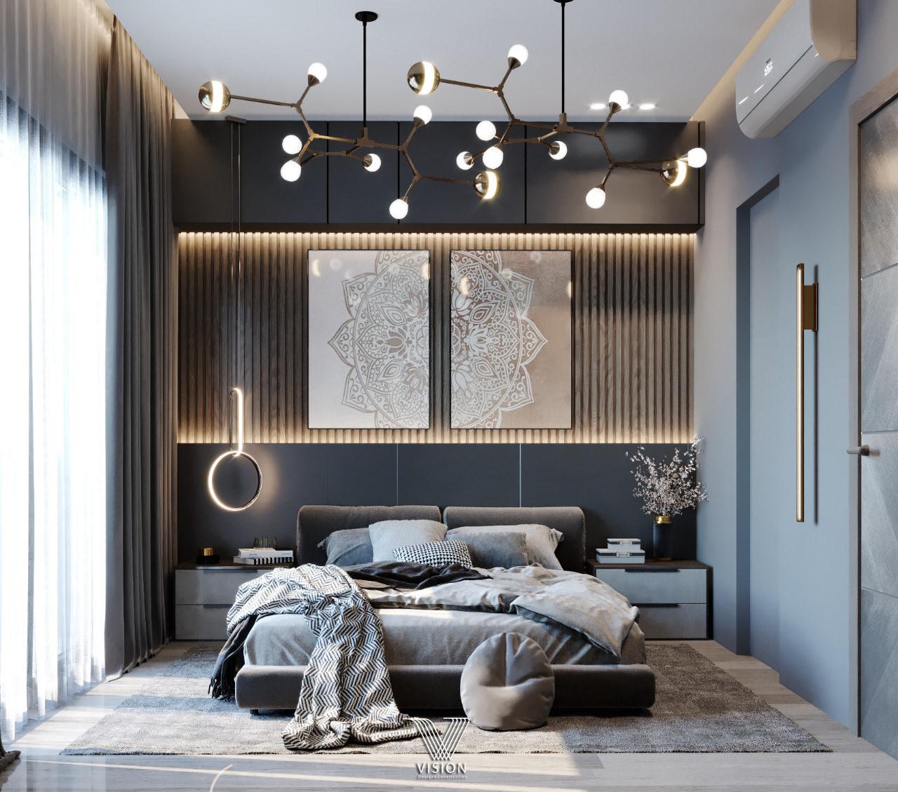 Modern Art Decor For Luxurious Master Bedroom Ideas