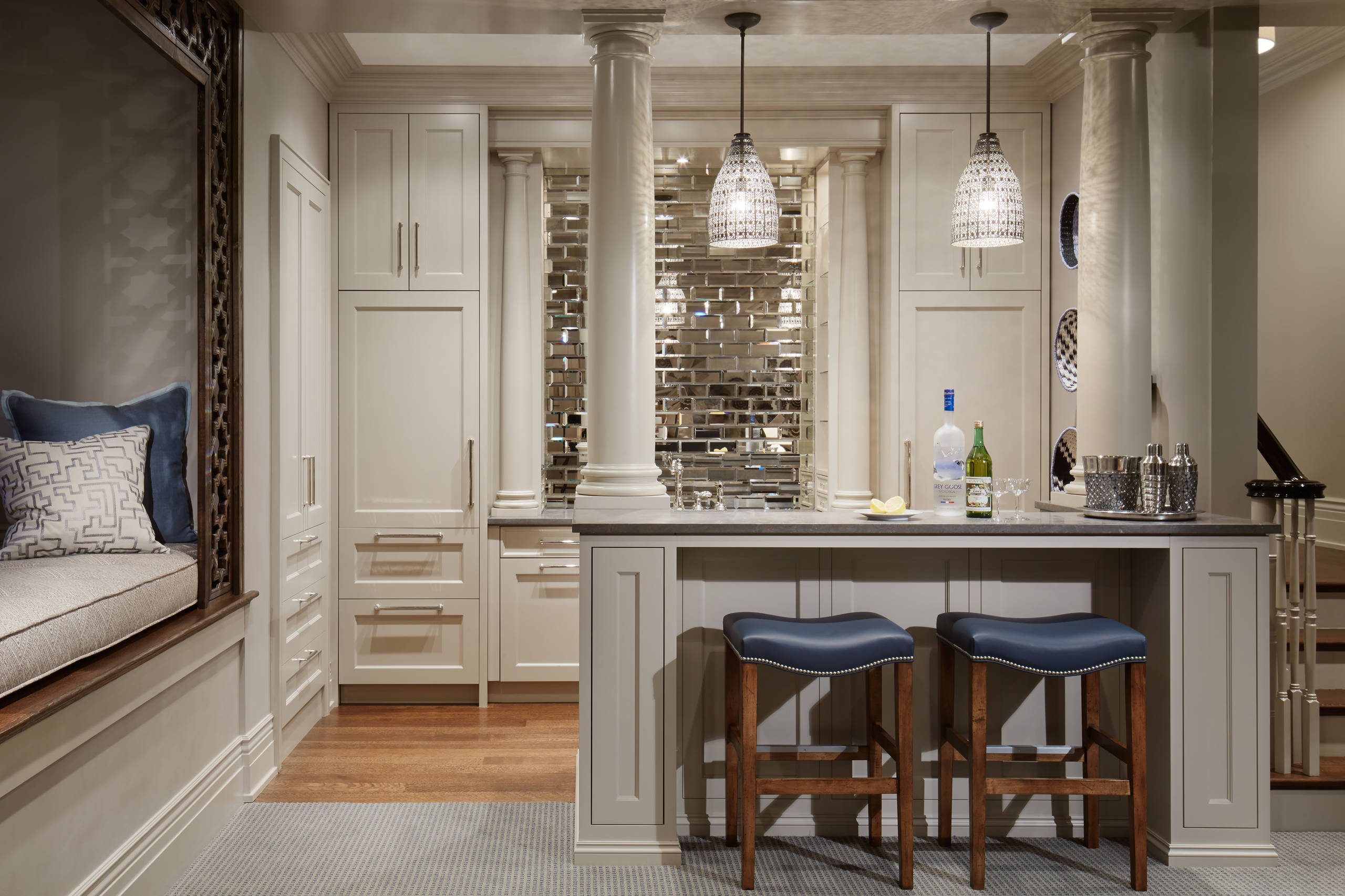Subtle and Stylish Home Bar Design 2021