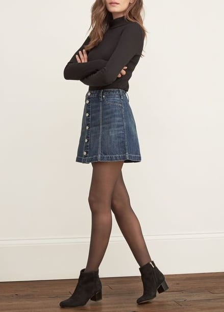 style chelsea boots with mini skirts
