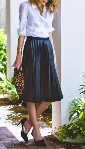 style d'orsay shoes with skirts