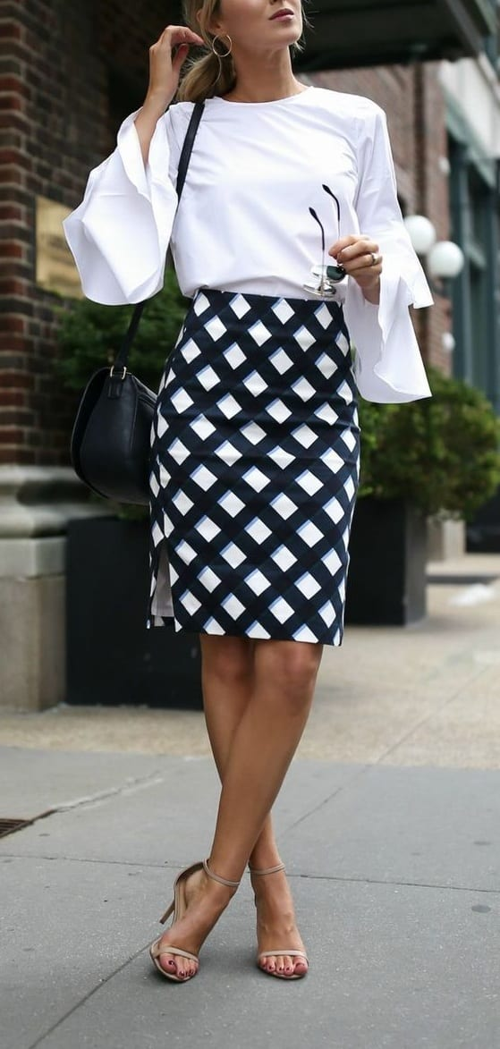 style sandals with A line skirts