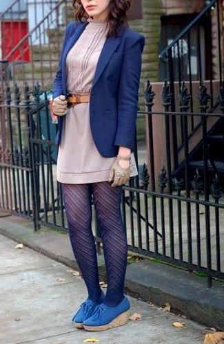 style cork heels with blazers