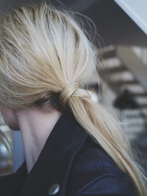 cris cross low ponytail