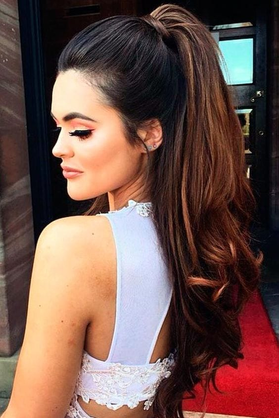 cute high ponytail