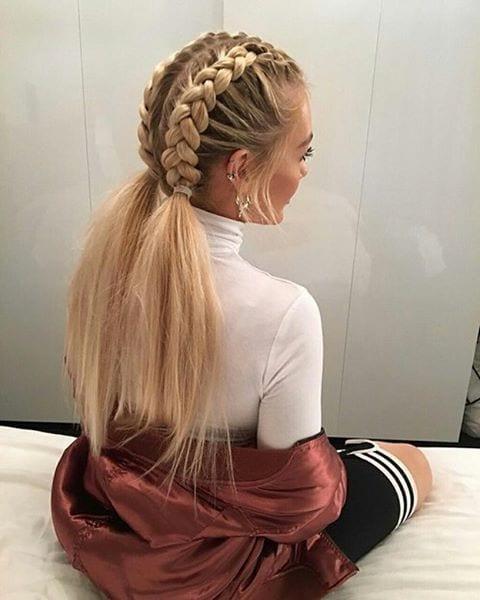 dutch braid two pony
