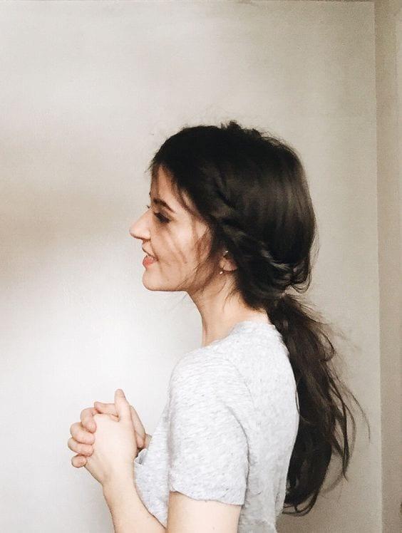 festive ponytail