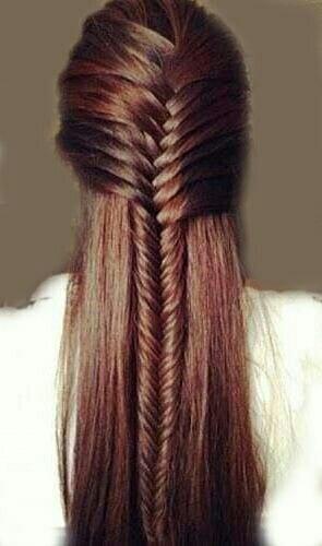 fishtail braid straight