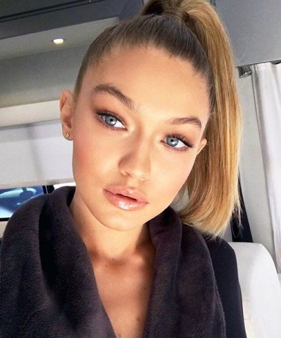 gigi hadid's high ponytail