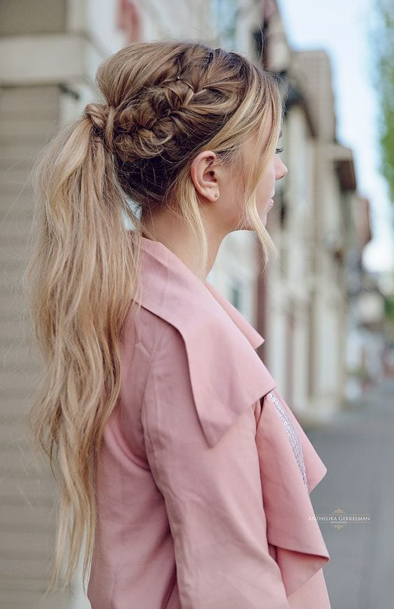 messy and braided pony