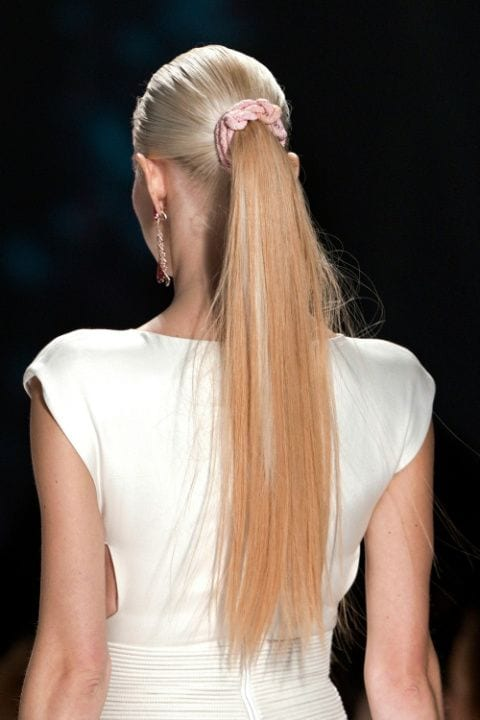midi pony long hair