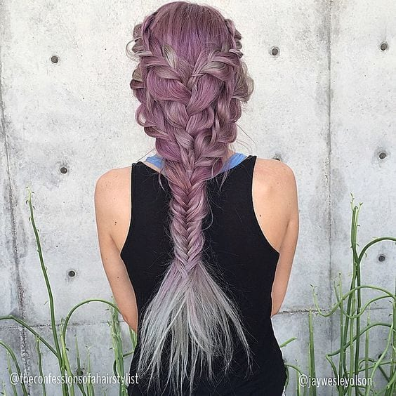 purple dutch braid
