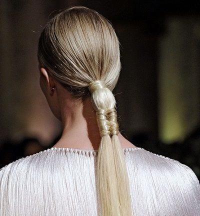 runway ponytail style