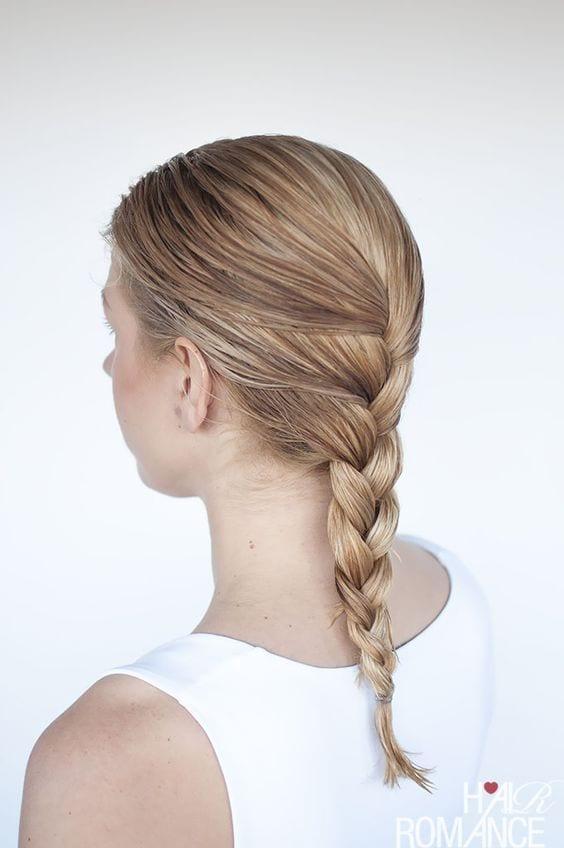 simple braid wet look