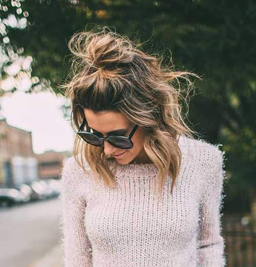 top knot messy