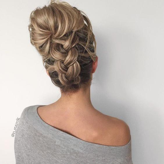upside braid pretty
