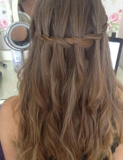 waterfall braid long