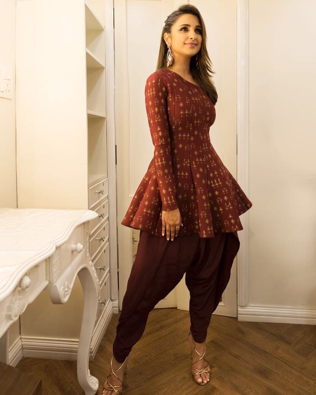 2018 dhoti pants with peplum tops parineeti chopra