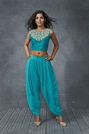 Dhodi Pants with Crop top for Sangeet