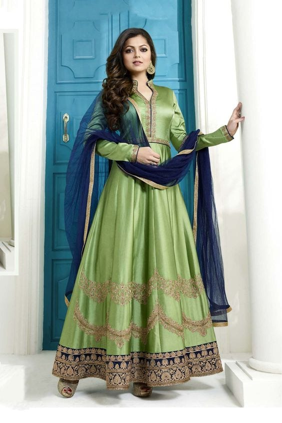 anarkali for mehendi