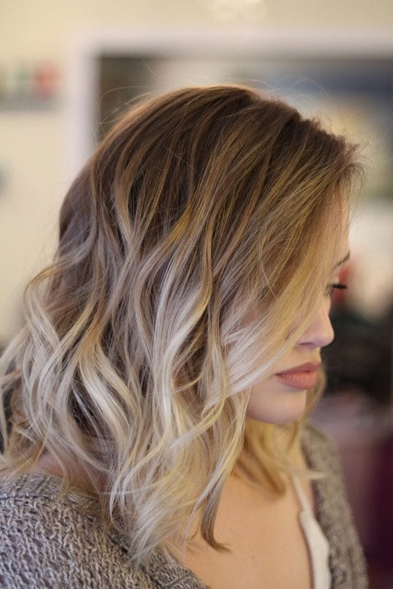 beach waves ombre blonde