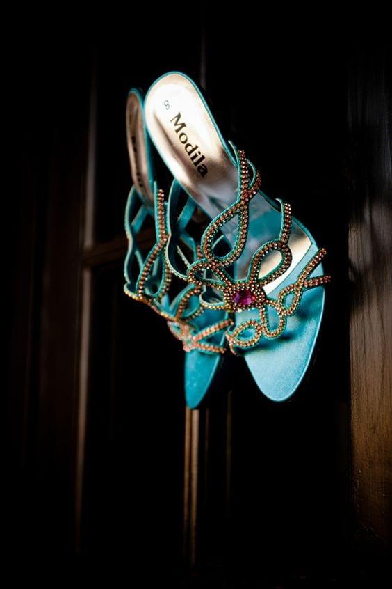 blue heels for haldi
