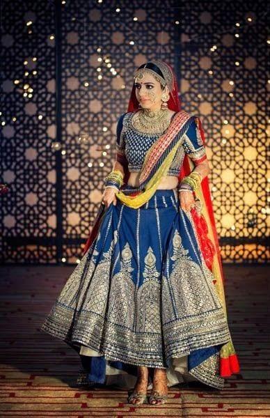 blue lehenga for wedding ceremony