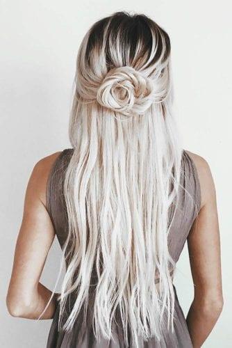 fishtail braid grey hair