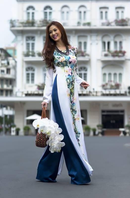 floral long kurti with palazzo pants
