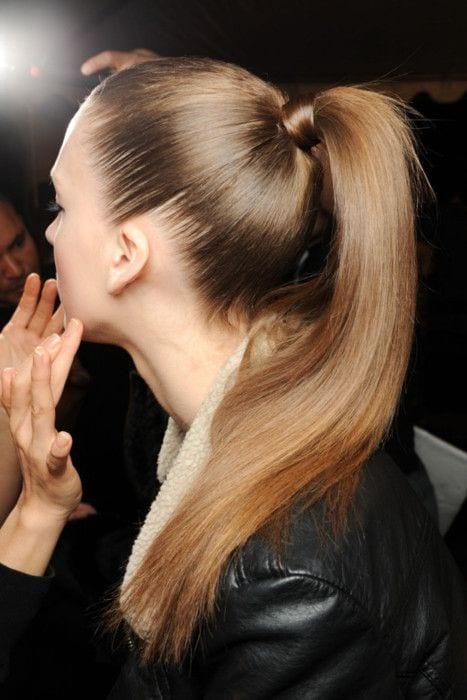 high poished ponytail