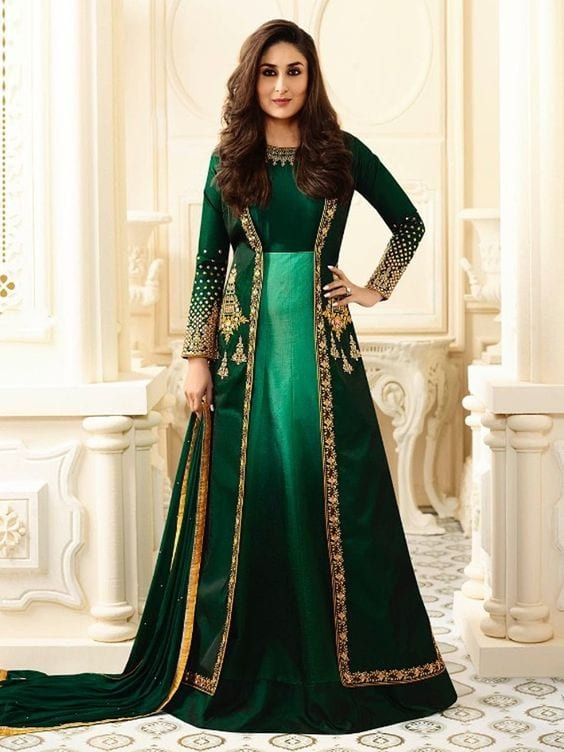 kareena kapoor designer jacket anarkli dress