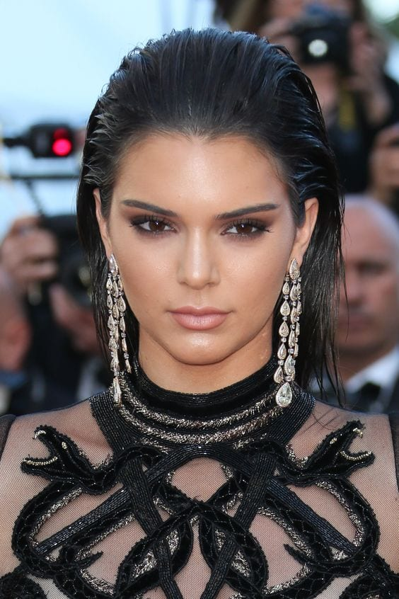 kendall jenner slicked back look