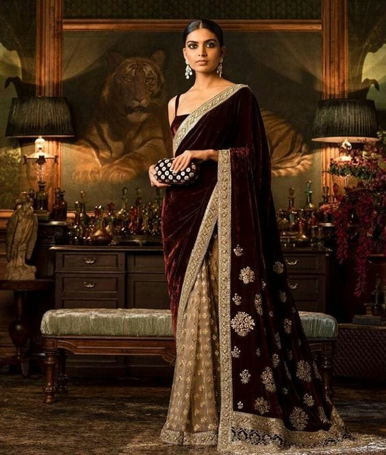 reception saree