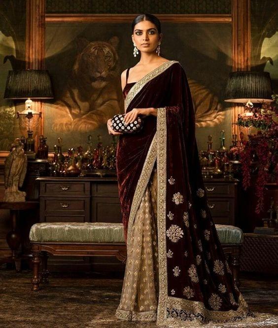 reception saree