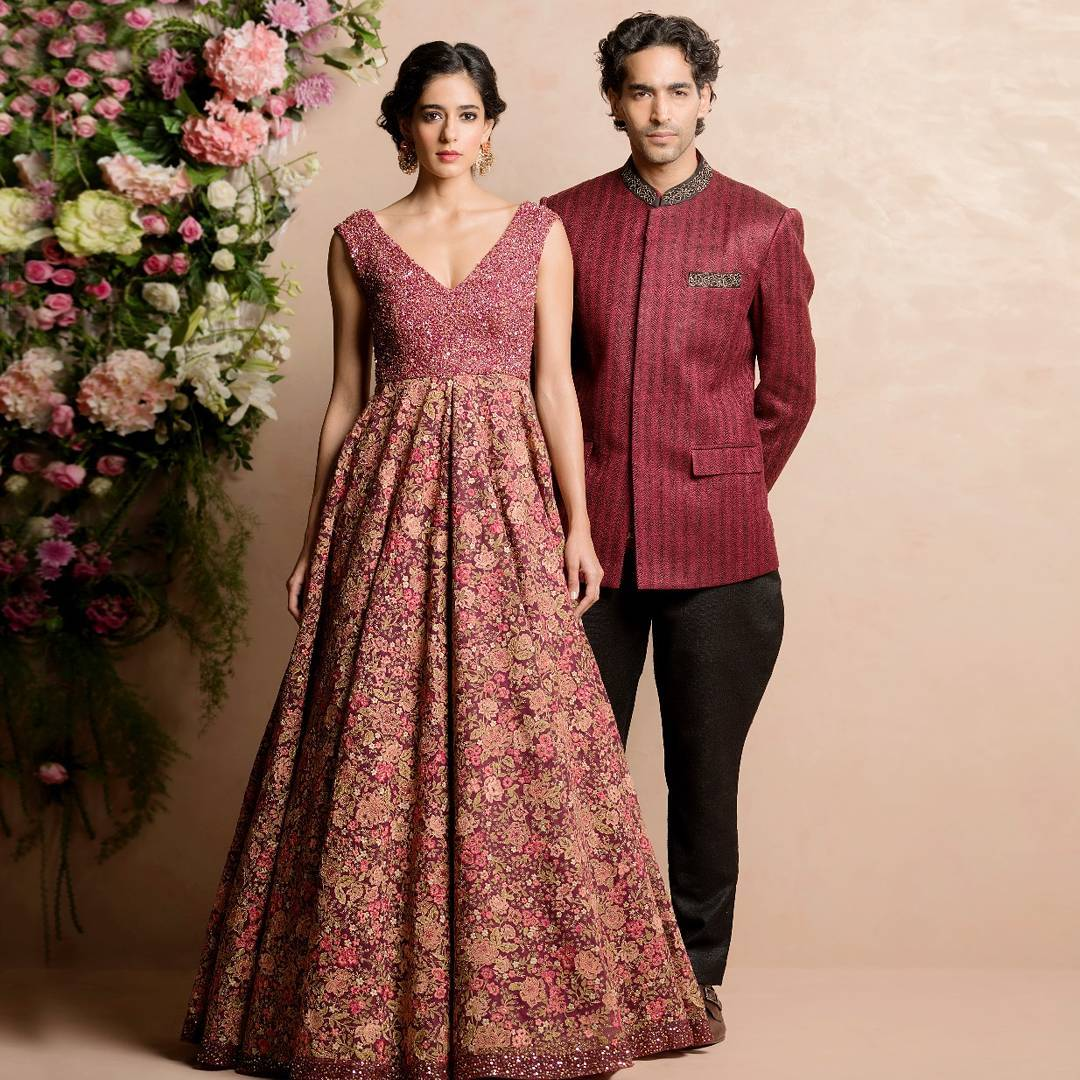 red sangeet outfit for sangeet