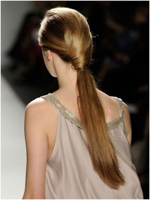 runway polished ponytail