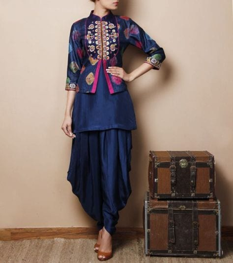 salwar suit with jacket patiala suit style